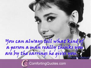 Audrey Hepburn Quotation on Men
