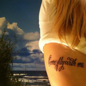 Frank Sinatra Quote Rib Tattoo