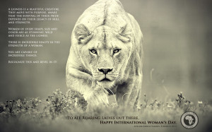 Lioness International Women's Day