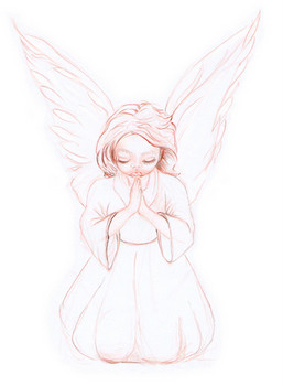 Baby Angel Drawings http://www.angel-art-and-gifts.com/angel-sayings ...