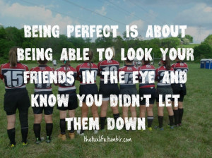 Friday night lights quote - absolutely perfect