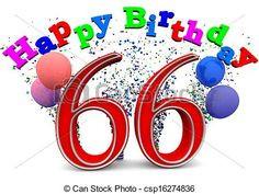 happy 66th birthday photos | Stock Illustration - happy 66th birthday ...