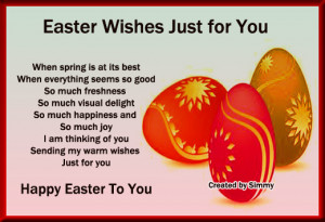 Wish your loved ones a very happy Easter.