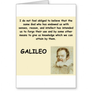 Galileo Quote Greeting Cards