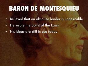 Baron De Montesquieu Baron de montesquieu