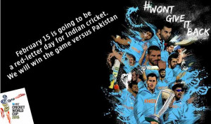 ... Facebook messages to wish Team India's win at 2015 Cricket World Cup