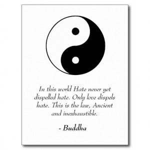 Famous Buddha Quotes - Love and Hate Post Card