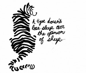 ... Doesn'T Lose Sleep, Opinion, Tigers Lose Sleep Sheep, Tattoo Tigers