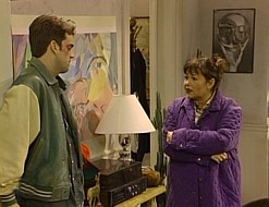 ... , while Roseanne urges a dazed Jackie to leave her abusive boyfriend