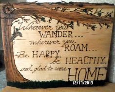 custom cabin quote wall hanging rustic décor cozy home woodburn ...
