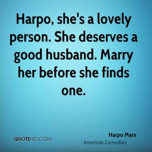 Harpo Marx Husband Quotes