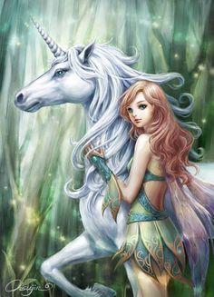 ... unicorns and fairies angels new art fantasy creatures fairies tales