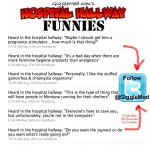 ... @GiggleMed for more medical humor and healthcare jokes on Twitter