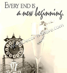 1090 EVERY END IS A NEW BEGINNING Motivational Wall Quote