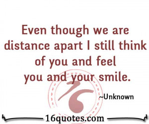 smile when i think of you quotes