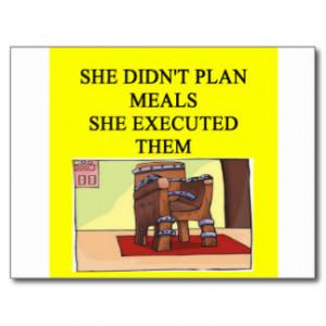 Funny Divorce Joke For Men Postcard