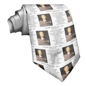 Blaise Pascal Gain Loss Wagering God Exists Quote Neck Ties