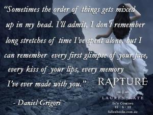 Daniel Grigori, Rapture (Fallen Series by Lauren Kate)