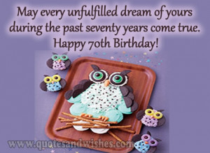 ... Wishes. Birthday greetings ecards picture images for 70 year old