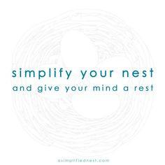 Simplify! Organizing Tips @ www.facebook.com/asimplifiednest