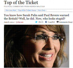 UPDATE2: Some of Governor Palin's information came from the vicar of ...