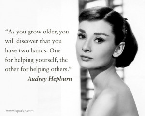 ... for helping yourself, the other for helping others.