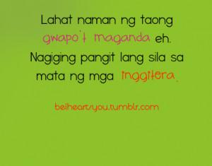 Quotes Para Sa Mga Inggitera. QuotesGram