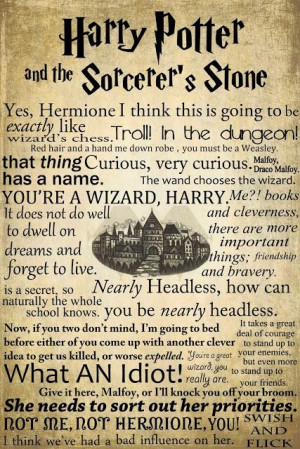 the life values learned in harry potter and the sorcerers stone Harry potter and the sorcerer's stone (book 1  children absorb the culture of their homes and only later in life gain the  inculcate their values and.