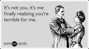 Breakup Bad Relationship Boyfriend Girlfriend Funny Ecard / Breakup ...