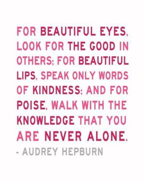 Audrey Hepburn —