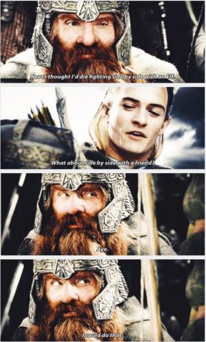 Legolas and Gimli - Friendship Legolas And Gimli, Best Friends ...