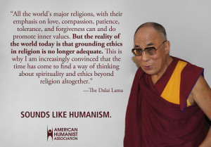 "Sounds Like Humanism"" is meant to show how values such as compassion ..."