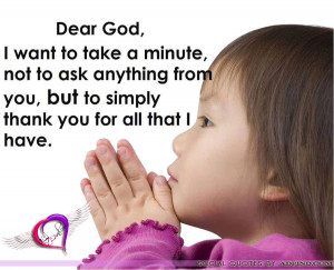Dear God, I Want To Take A Minute, Not To Ask Anything From You, But ...