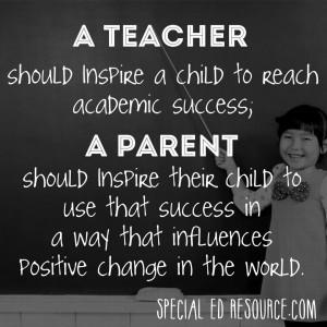 When parents and teachers work together, monumental things happen. # ...