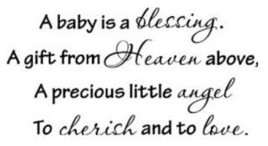 baby is a blessing angel nursery wall quotes and sayings stickers ...