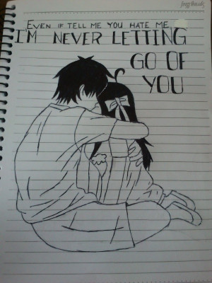 Emo Quotes Drawing by lunasenaideathnote