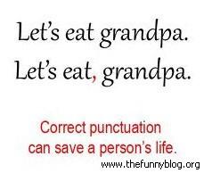 Lets eat grandpa! Lets eat, grandpa!