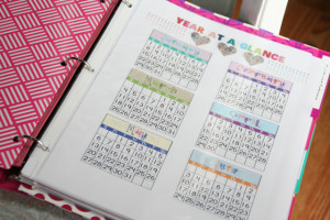 On the first page, I put my 2012 Year at a Glance calendar inside some ...