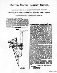 Cyrus McCormick's Reaper Patent