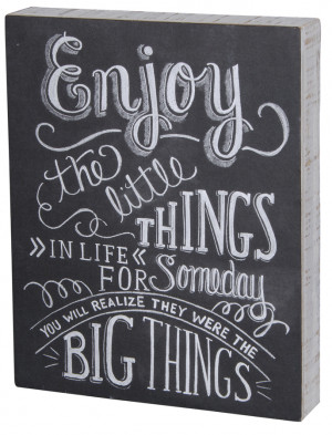 Chalkboard Sign-Enjoy the Little Things
