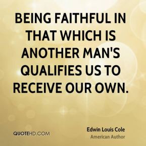 Quotes About Being A Faithful Man