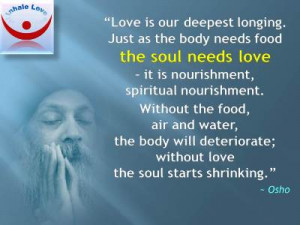 Osho on Love, Food for the Soul