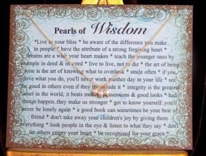 Pearls of Wisdom.