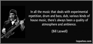 In all the music that deals with experimental repetition, drum and ...