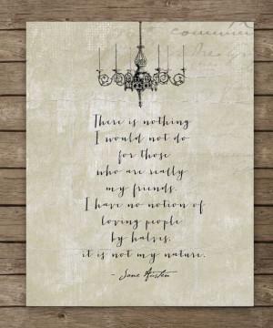... Abbey My friends Jane Austen Quote by WordsWorkPrints, $18.00