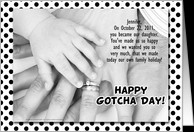for Adopted Daughter on Gotcha Day or Adoption Anniversary card ...