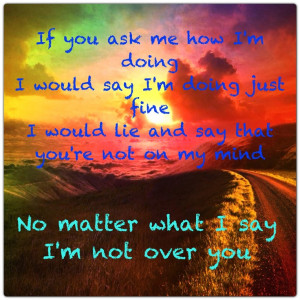 Not over you by Gavin Degraw