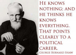 George Bernard Shaw Quote On Politics