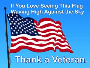 Art for Veterans Day: United States Flag flying high in the American ...