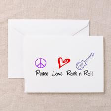 Peace Love Rock n Roll Greeting Cards (Pk of 20) for